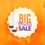 Lampes impressionnantes de diwali pour le fond de vente de festival Photo stock
