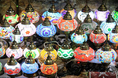 Lampes marocaines Photographie stock