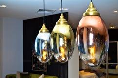 Lampes modernes et élégantes Rougeoyez, illuminez images libres de droits