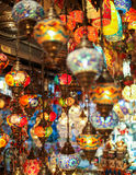 Lampes multicolores turques Photo libre de droits