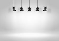 Lampes noires de plafond Vecteur Images stock