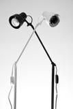 Lampes noires et blanches Photos libres de droits