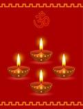 Lampes rougeoyantes de Diwali Photos stock