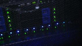 Lampes sur l'iterface de serveur de carte mère banque de vidéos