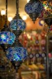 Lampes sur le marché d'Istanbul Photographie stock