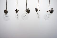 Lampes sur un fond blanc Photographie stock