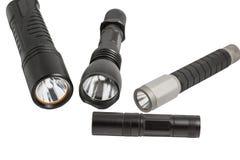 Lampes-torches menées sur le blanc Image libre de droits
