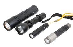 Lampes-torches menées sur le blanc Images stock