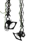 Lampes-torches professionnelles de studio Images libres de droits