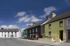 Lampeter. Colourful painted houses in residential street in Lampeter, Wales stock photography