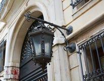 Lampgata i Venedig, Italien, Europa Arkivbild