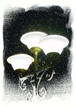lampgatavinter stock illustrationer