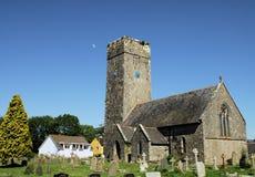 Lamphey Kirche Lizenzfreies Stockfoto