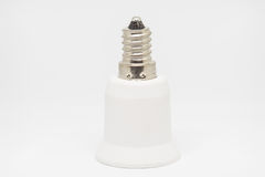 Lampholder adapter E14 to E27. Lampholder adapter from E14 to E27 Royalty Free Stock Photography