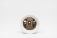 Lampholder adapter E14 to E27. Lampholder adapter from E14 to E27 Stock Photos
