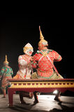 Lamphun, ΤΑΪΛΑΝΔΗ - στις 19 Μαρτίου: Ταϊλανδικό παραδοσιακό φόρεμα. δράστες ανά στοκ φωτογραφίες