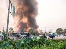 Lamphun, Таиланд - 9-ое апреля 2016: Во время утра 9-ое,2 апреля Стоковые Фото