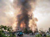 Lamphun, Таиланд - 9-ое апреля 2016: Во время утра 9-ое,2 апреля Стоковая Фотография RF
