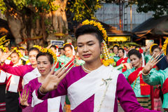 Lamphun, Таиланд - 13-ое мая 2016 Стоковые Фото