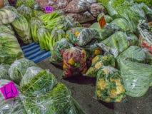 Lamphun grönsakmarknad Fotografering för Bildbyråer