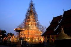 Lamphun-hariphunchai-temple. Thailand Architecture Royalty Free Stock Image