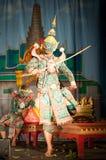 Lamphun,泰国- 3月19 : 泰国传统礼服。 演员每 免版税图库摄影