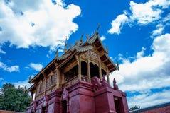 Lamphuns Temple. Architecture temple thailand lamphun gold sky blue wallpaper naga ruins ancient Royalty Free Stock Image