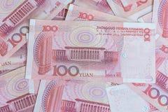 Lamphun, Tailandia - apoye 20 de diciembre de 2015 de los billetes de banco del yuan para Imagen de archivo libre de regalías