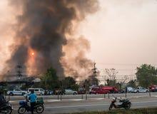 Lamphun, Tailandia - 9 aprile 2016: Durante mattina il 9 aprile, 2 Fotografia Stock