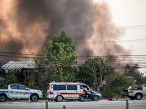 Lamphun, Tailandia - 9 de abril de 2016: Durante mañana el 9 de abril, 2 Fotografía de archivo