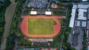 LAMPHUN, TAILANDIA LUGLIO 30,2017: Stadio di sport di vista di Arial al lamphu Fotografia Stock