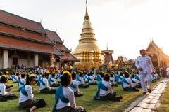 Lamphun, Tailandia - 13 maggio 2016 Fotografia Stock Libera da Diritti