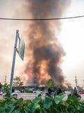 Lamphun Tajlandia, Kwiecień, - 9, 2016: Podczas ranku Kwiecień 9, 2 Obrazy Stock