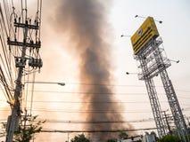 Lamphun Tajlandia, Kwiecień, - 9, 2016: Podczas ranku Kwiecień 9, 2 Zdjęcia Stock