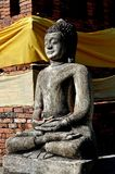 Lamphun, Thailand: Buddha Statue at Thai Temple Royalty Free Stock Images