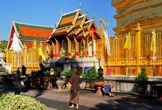 Lamphun, Thailand: Golden Thai Temple Stock Photography