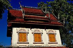 Lamphun, Thailand: Library Repository at Thai Temple Stock Image