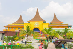 Lamphun , Thailand - March 3 , 2014 ; The Sun New Center Lamphun Royalty Free Stock Images