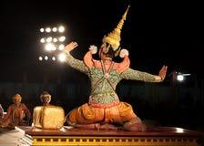 Lamphun THAILAND - mars 19: Thailändsk traditionell klänning. skådespelarear per Arkivbilder
