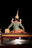 Lamphun THAILAND - mars 19: Thailändsk traditionell klänning. skådespelarear per Royaltyfria Foton