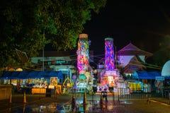 LAMPHUN THAILAND 26 SEPTEMBER: De traditie van Salakyomlanna in Wat Stock Fotografie
