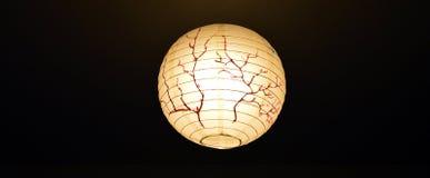 Lampion avec le dessin de Sakura image stock