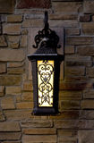 lampion ceglana ściana Zdjęcie Stock