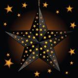 lampion czarny rozjarzona gwiazda Obrazy Royalty Free