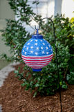 Lampion de drapeau américain Image stock
