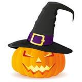 lampion Halloween rzeźbiąca pączuszku Zdjęcia Royalty Free