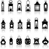 Lampion i oświetleniowa wektorowa ilustracja Zdjęcie Stock