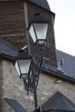 Lampion na kamiennym filarze Obrazy Stock
