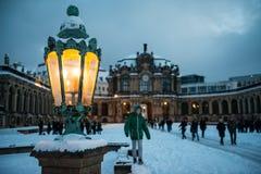 Lampion przy Zwinger, Drezdeńskim, Niemcy Zdjęcie Stock
