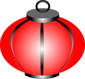 Lampion rosso Fotografia Stock Libera da Diritti